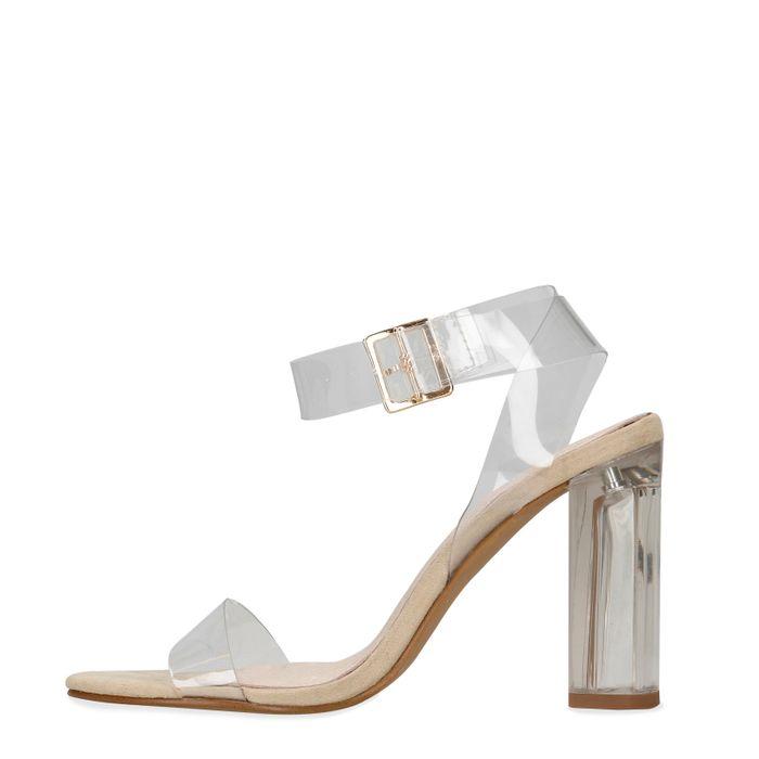 Sandales transparentes à talon