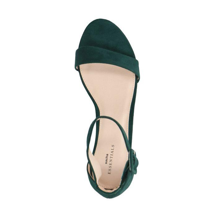 Sandales à talon et boucle - vert