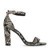 Sandales synthétique à talon haut avec imprimé serpent