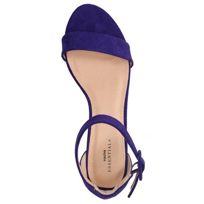 Sandales synthétique à talon - violet