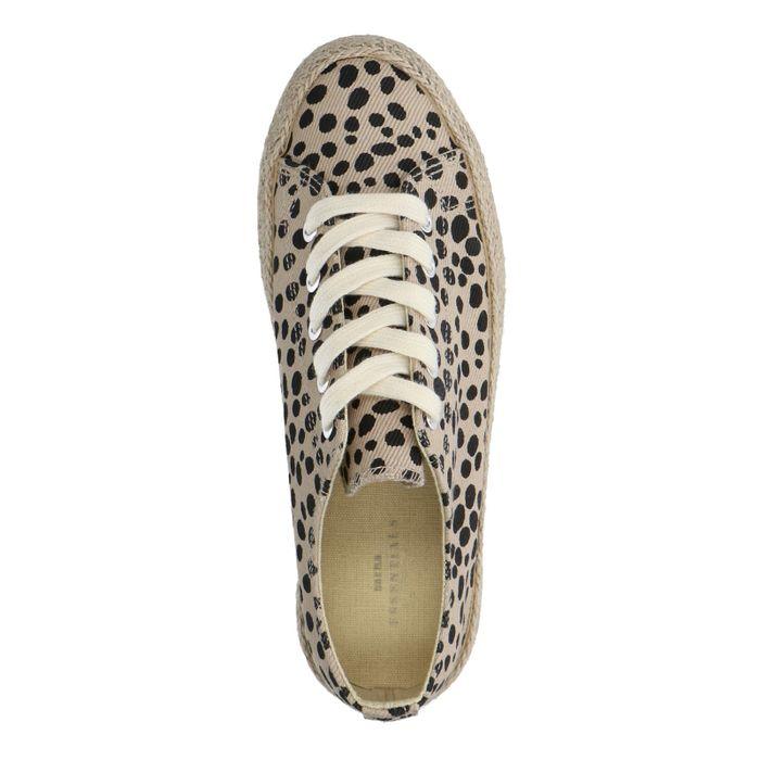 Baskets en toile avec imprimé léopard