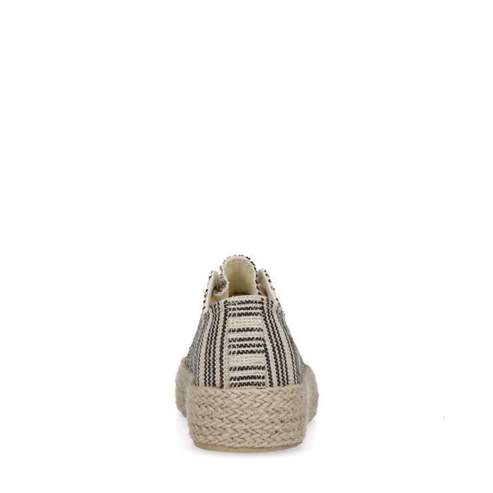 Baskets toile à plateforme avec rayures