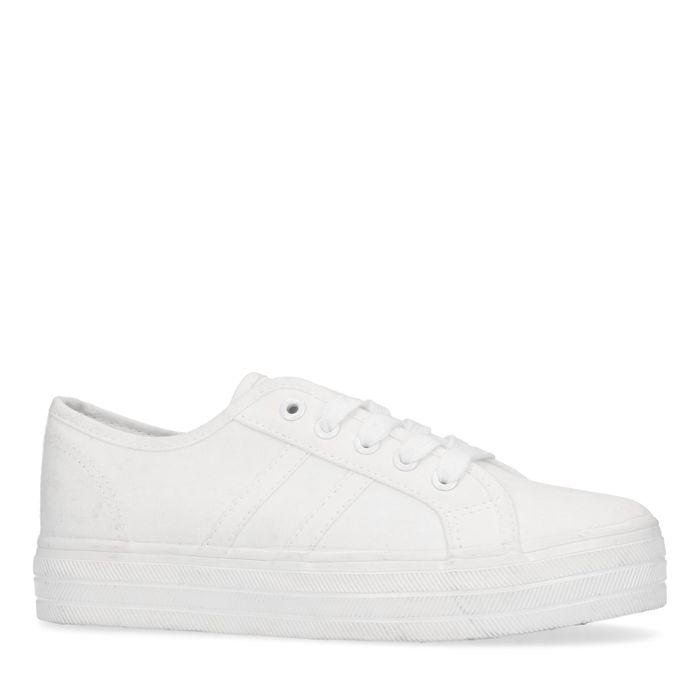 Baskets avec semelle plateau - blanc