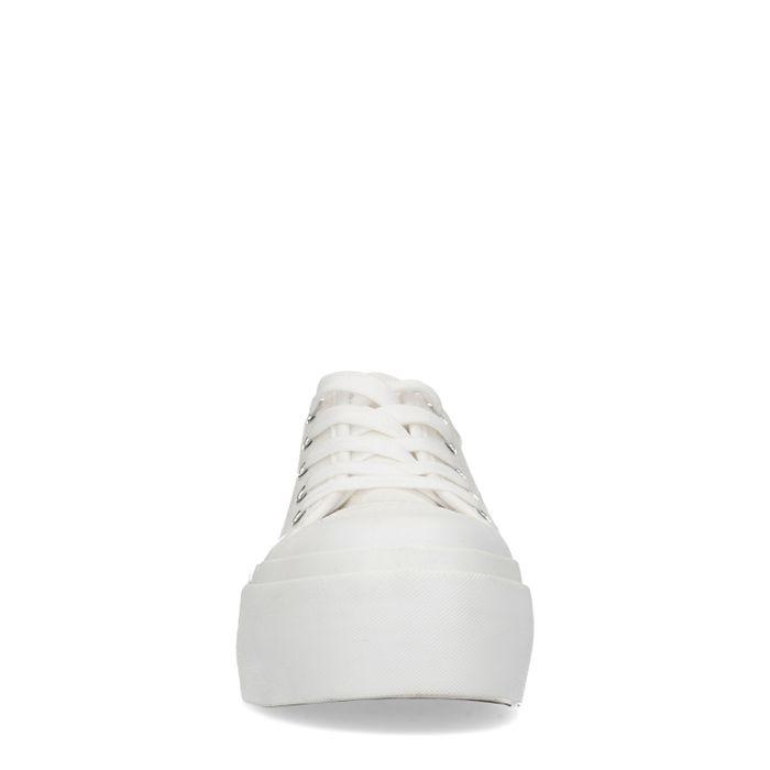 Baskets à plateforme en toile - blanc