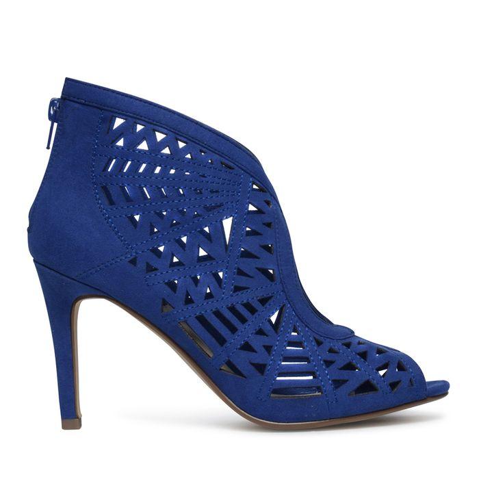 Escarpins à bout ouvert - bleu de cobalt