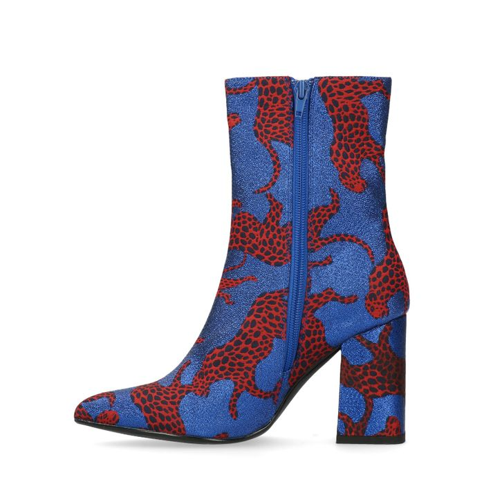 Bottines avec tigres rouges - bleu