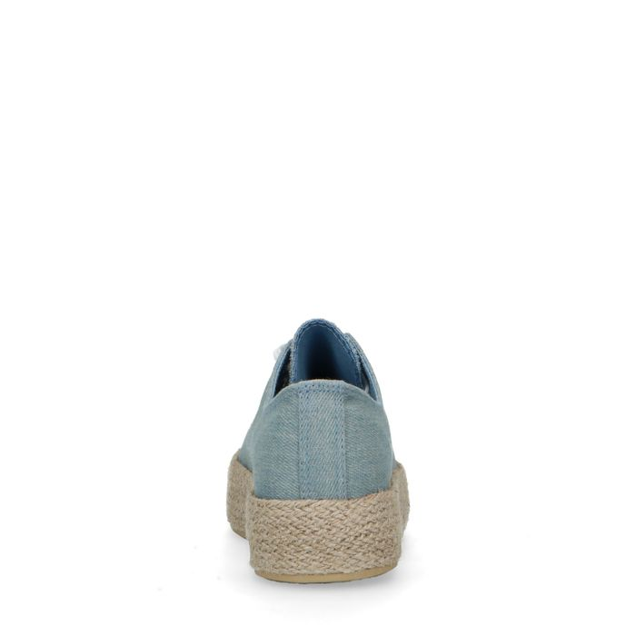 Baskets en textile avec semelle en corde - bleu