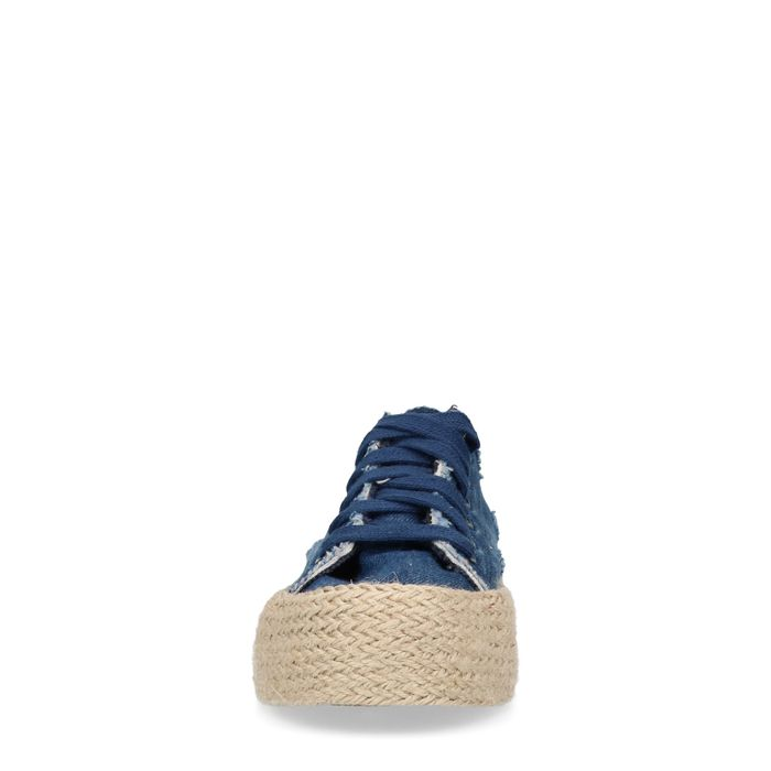 Baskets denim avec semelle en corde
