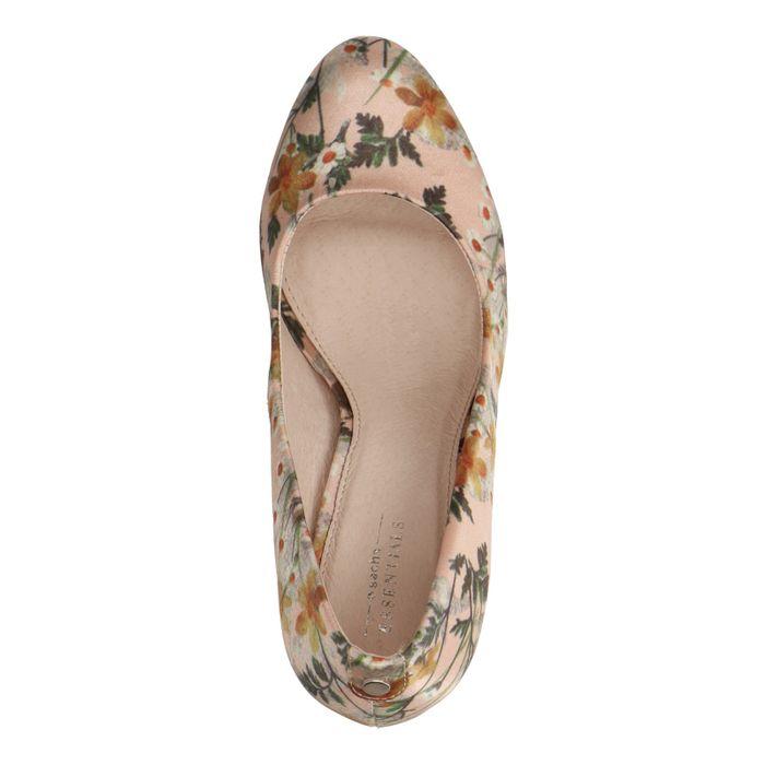 Escarpins avec imprimé fleuri - rose pâle