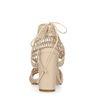 Escarpins textile ajourés avec bout ouvert - nude