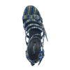 Sandales textile à talon pailletées - gris
