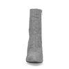 Bottines textile à talon avec imprimé à carreaux - gris