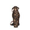 Sandales textile à talon avec imprimé léopard