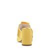 Mules à talon en satin - jaune