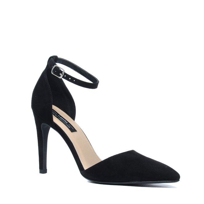 Escarpins en textile - noir