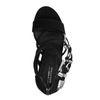Sandales à talon avec boucles western - noir