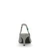 Escarpins slingback textile avec petit talon et imprimé carreaux - noir