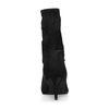 Bottines-chaussettes en satin avec fermeture éclair - noir
