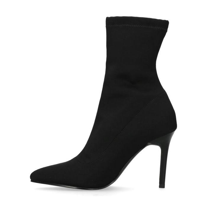 Bottines-chaussettes textile - noir