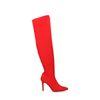 Bottes-chaussettes cuissardes vernies - rouge