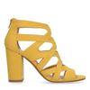 Escarpins synthétique ajourés - jaune