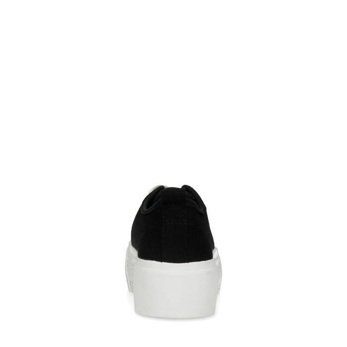 Baskets textile à plateforme - noir