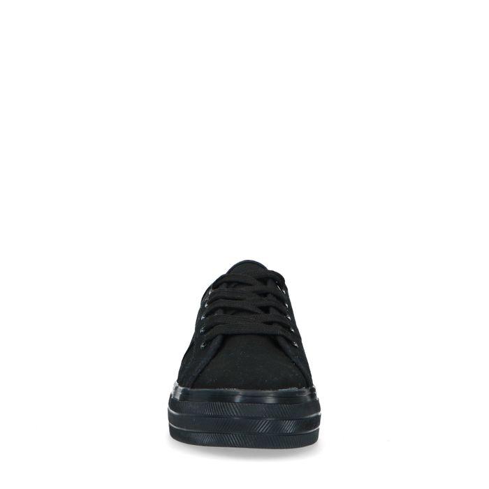 Baskets en textile - noir