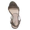 Sandales textile à talon pailletées