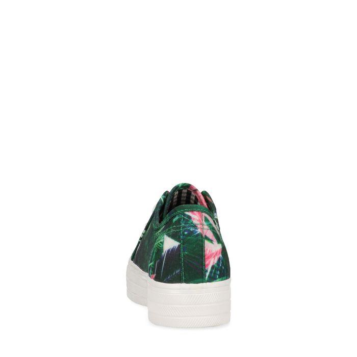 Baskets à plateforme avec imprimé tropical