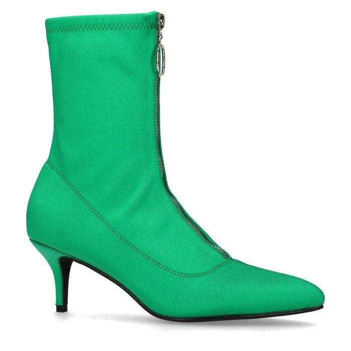 Bottines-chaussettes avec fermeture éclair - vert