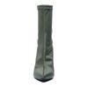 Bottines-chaussettes textile à talon - vert foncé