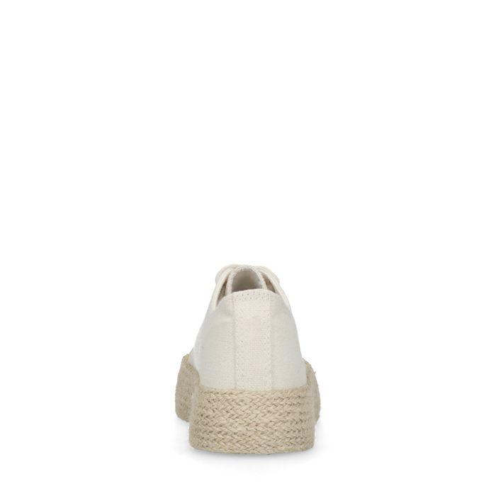 Baskets textile à plateforme avec semelle en corde - blanc