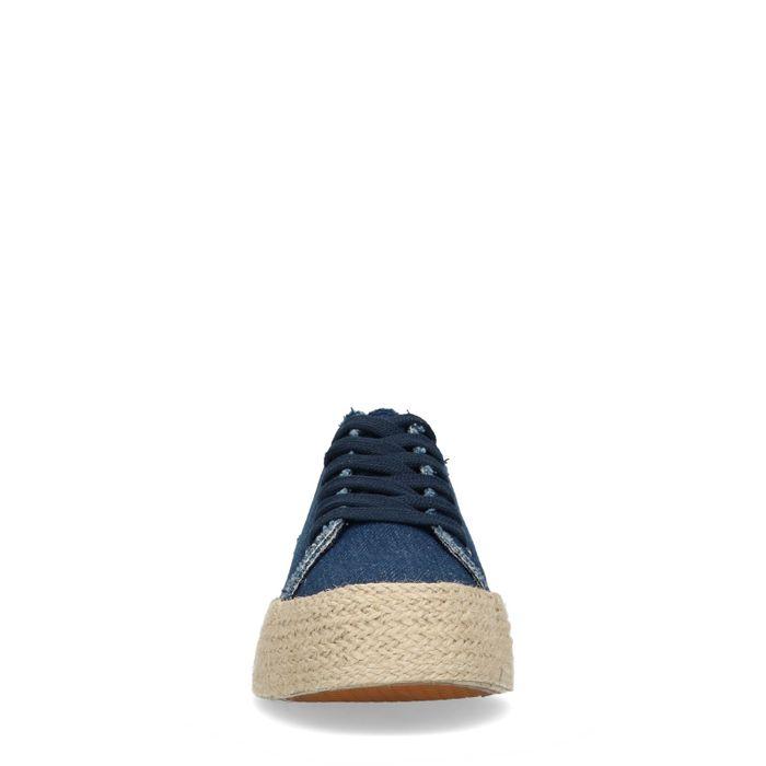 Baskets en toile couleur jean