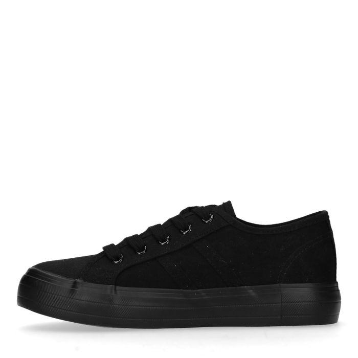 Baskets basses en toile - noir