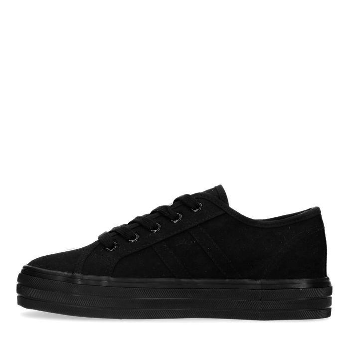 Baskets en toile - noir