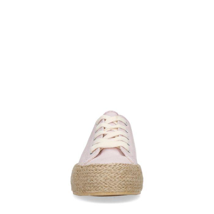 Baskets textile à plateforme avec semelle en corde - lilas