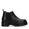 Chelsea boots en cuir à plateforme - noir