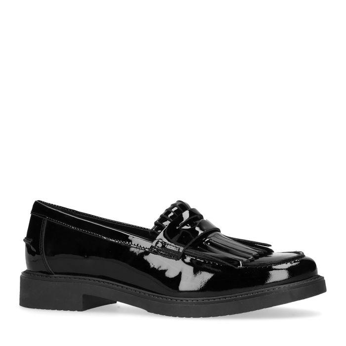 Loafers en cuir verni - noir