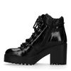 Bottines vernies avec talon cubain - noir