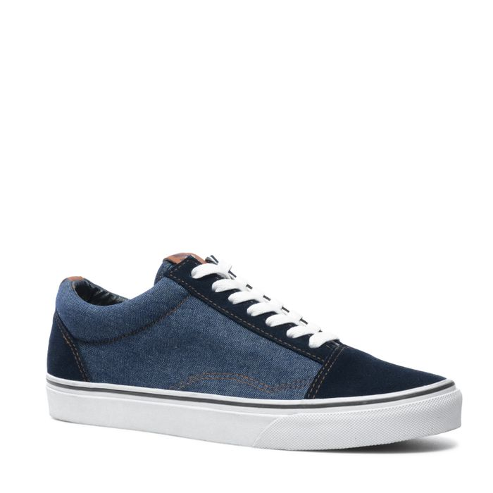 Lage sneakers blauw