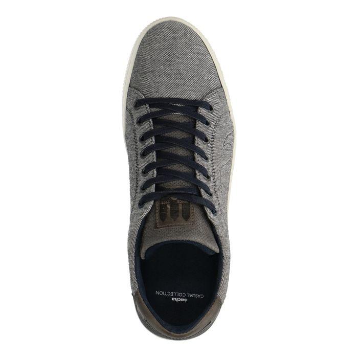 Grijze lage sneakers van canvas