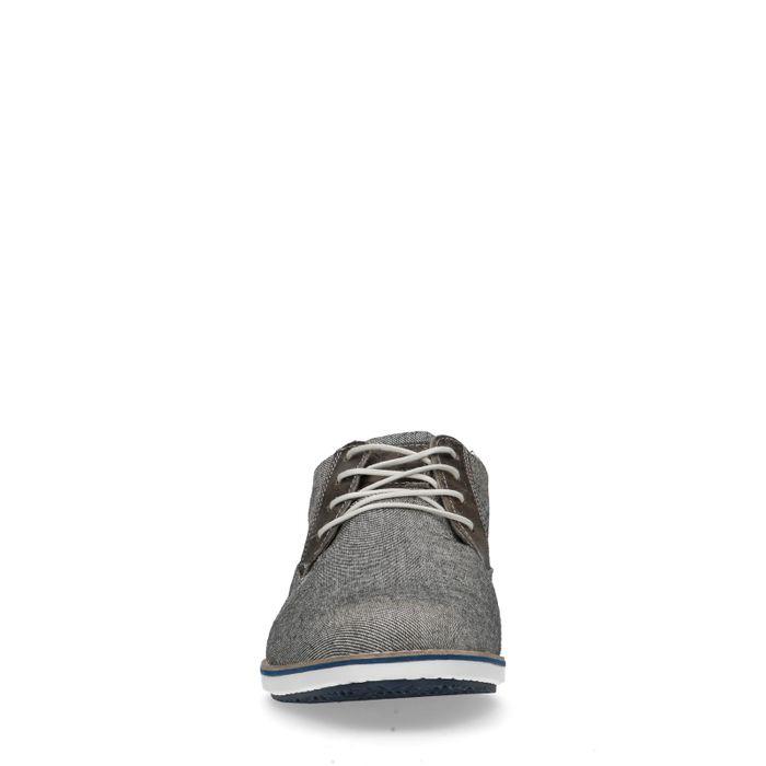Grijze casual veterschoenen