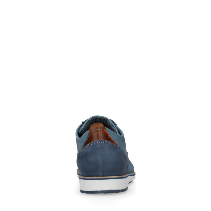 Lichtblauwe casual veterschoenen