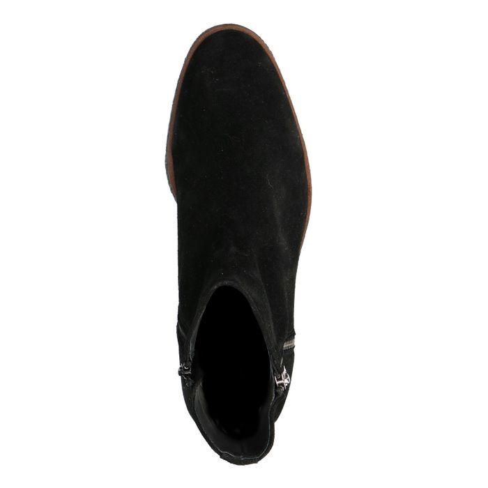 bba1a463bf6 Boots en daim basses avec fermeture éclair - noir - Hommes – SACHA