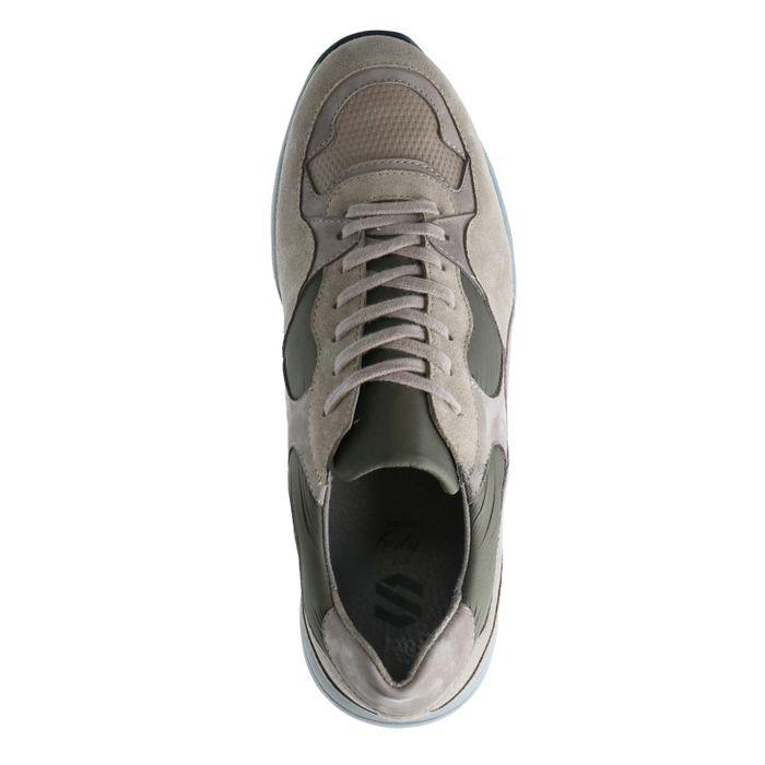 Grijze leren sneakers