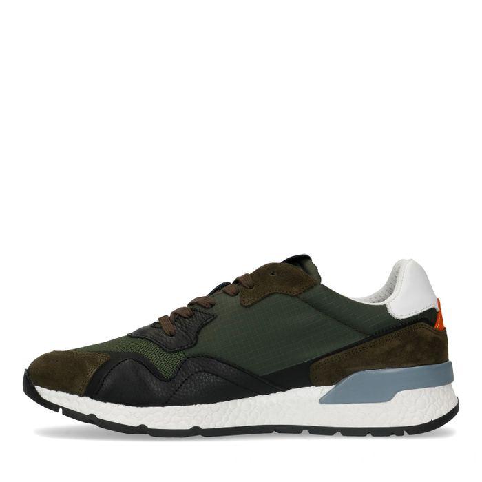 Donkergroene sneakers
