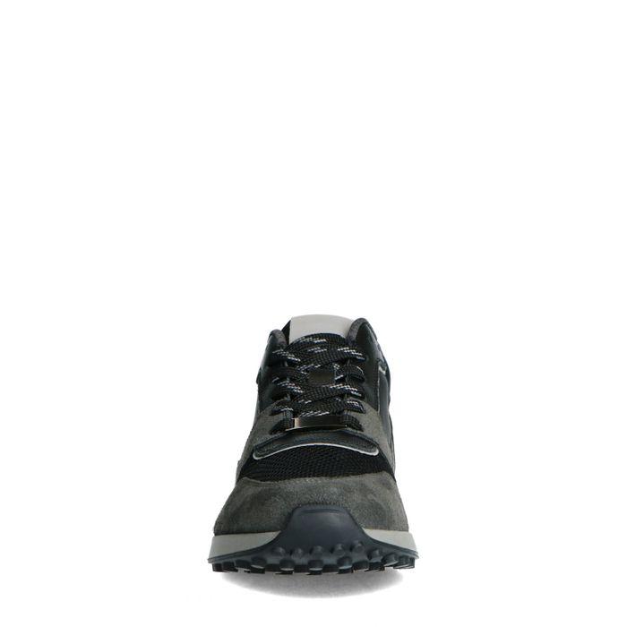 Donkergroene leren sneakers