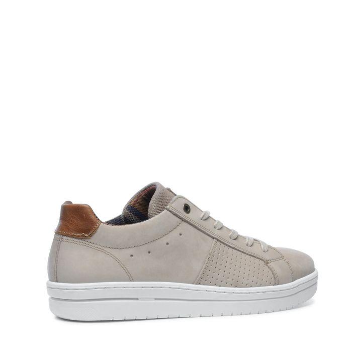 Beige lage sneakers