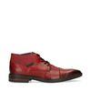 Rode veterschoenen met elastiek