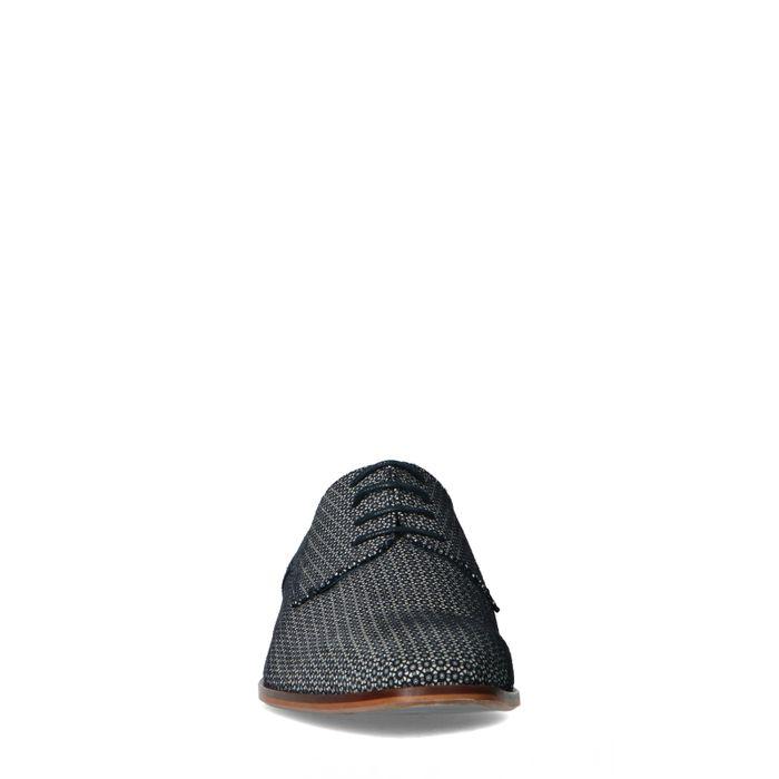 Blauwe veterschoenen met motief